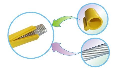 卡扣式硅橡胶绝缘护套管结构示意图